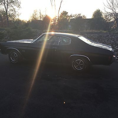 Chevrolet : Chevelle LS 6 RARE Black 4 Speed MATCHING NUMBERS 1970 Chevelle SS LS6 454/450hp