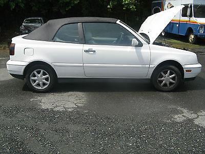 Volkswagen : Cabrio Cabrio 1997 volkswagen cabrio base convertible 2 door 2.0 l 84 k new conv top needs work