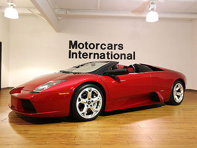 Lamborghini : Murcielago Roadster Beautiful Roadster in extremely rare and highly desirable Rosso Vic paint!