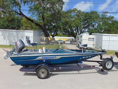 15' TIDECRAFT BASS FISHING SPEED BOAT - YAMAHA OUTBOARD - TRAILER INCLUDED