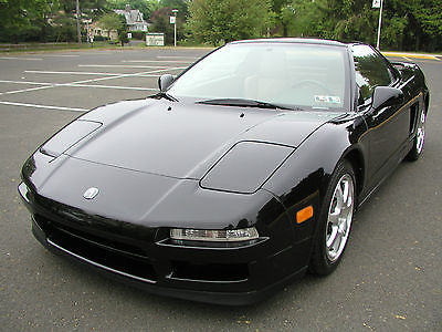 Acura : NSX T Coupe 2-Door 1998 acura nsx t black tan 6 speed 56 k miles service records vg condition