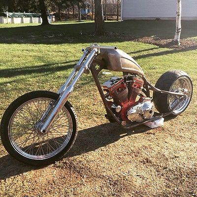 Custom Built Motorcycles : Chopper Custom Chopper Build Sportster Engine  Red Barron Frame