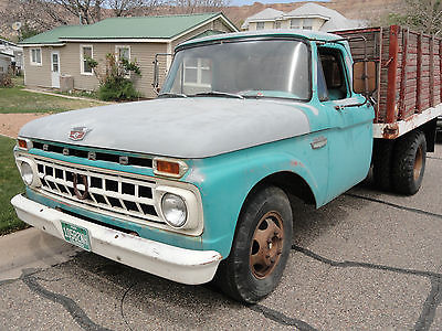 Ford : F-350 Standard cab 1965 f 350 9 ft flatbed
