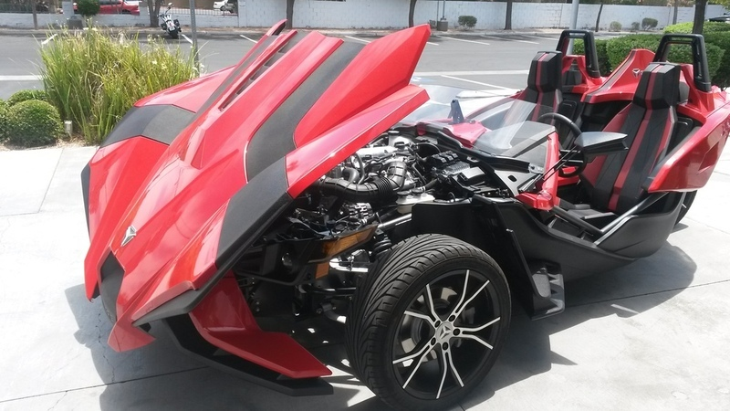 2016 Polaris Slingshot Reverse Trike SL Red Pearl