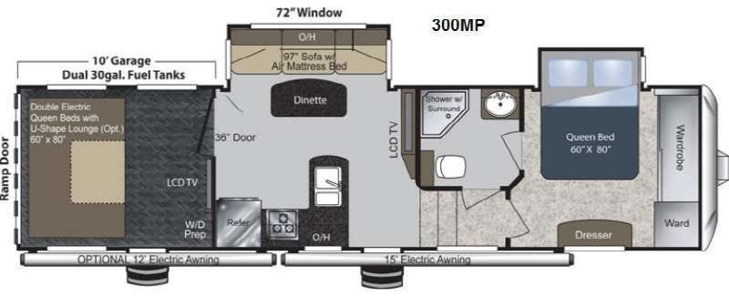 2013 Keystone Rv Raptor 300MP