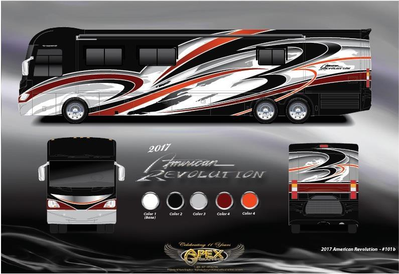 2017 American Coach American Revolution 42P Luxury Coach W/IFS, Ultra Steer
