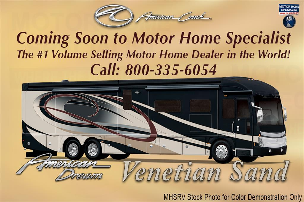 2017 American Coach American Dream 45A 600HP Bath & 1/2 Luxury RV for Sale
