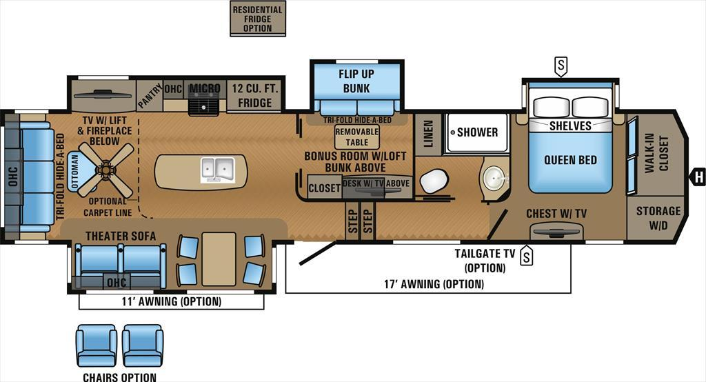 2017 Jayco North Point 377RLBH Rear Lounge Two Bedroom Quad Slide
