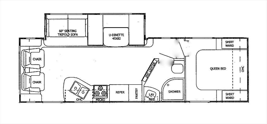 2017 Starcraft Autumn Ridge 262RLS Rear Lounge Sofa/Dinette Slideout