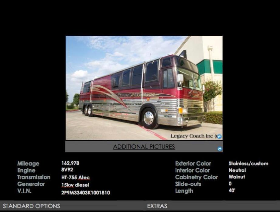 1990 Prevost COUNTRY COACH XL40