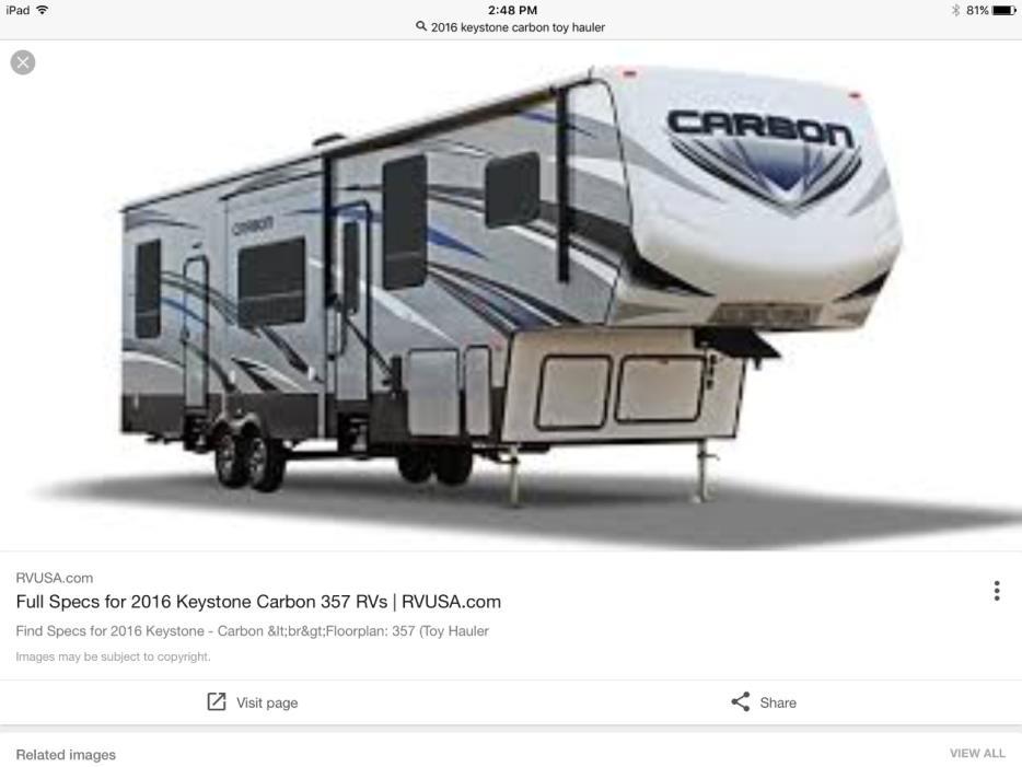 2016 Keystone CARBON 357