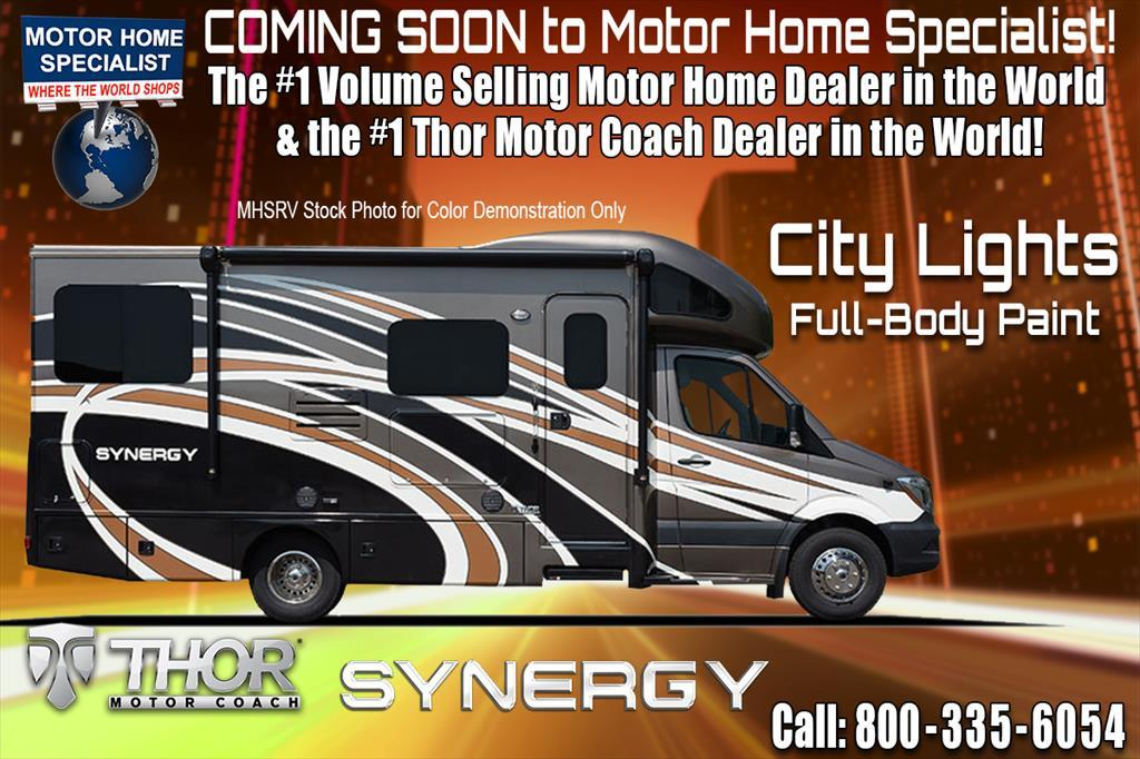 2018 Thor Motor Coach Synergy SP24 Sprinter RV for Sale W/Dsl. Gen & Summit P