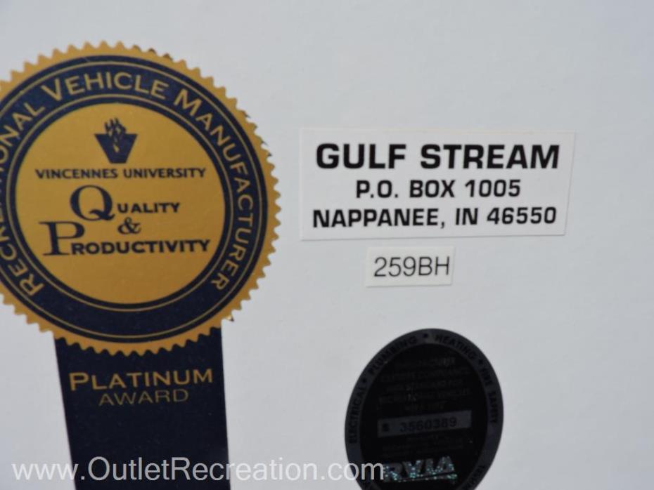 2015 Gulf Stream Aluma-lite259BH