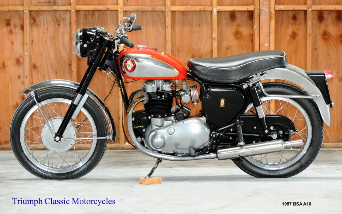 1957 BSA A10 Golden Flash w/Road Rocket Trim