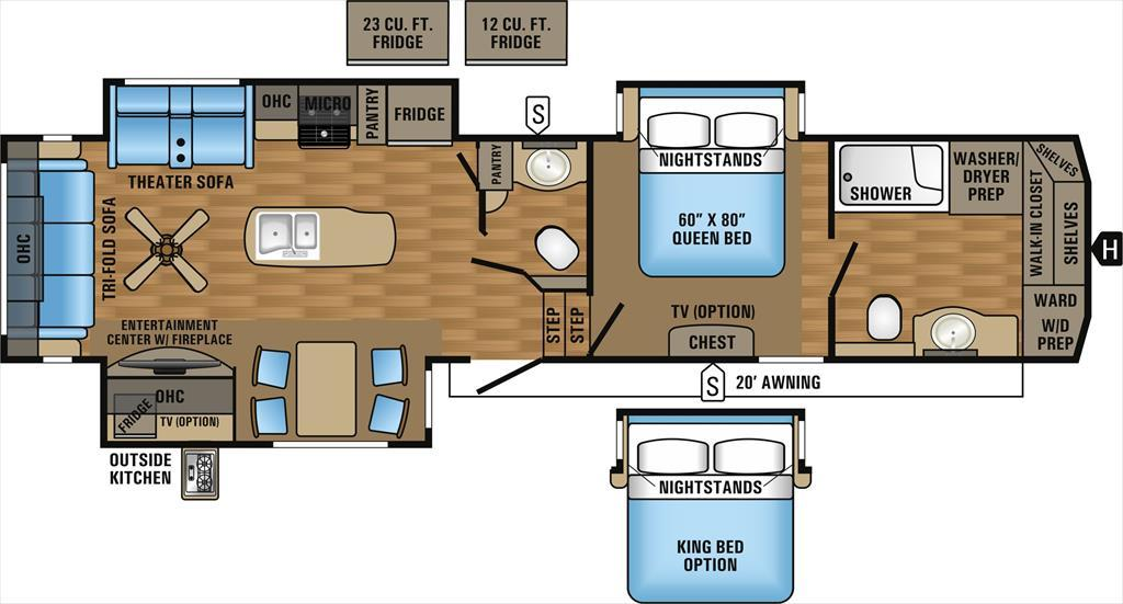 2017 Jayco Eagle 336FBOK Front Bathroom Rear Sofa Triple Slide