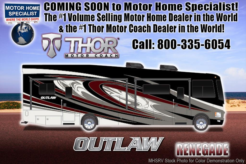 2018 Thor Motor Coach Outlaw 37RB Toy Hauler for Sale @ MHSRV 3 A/Cs, Patio