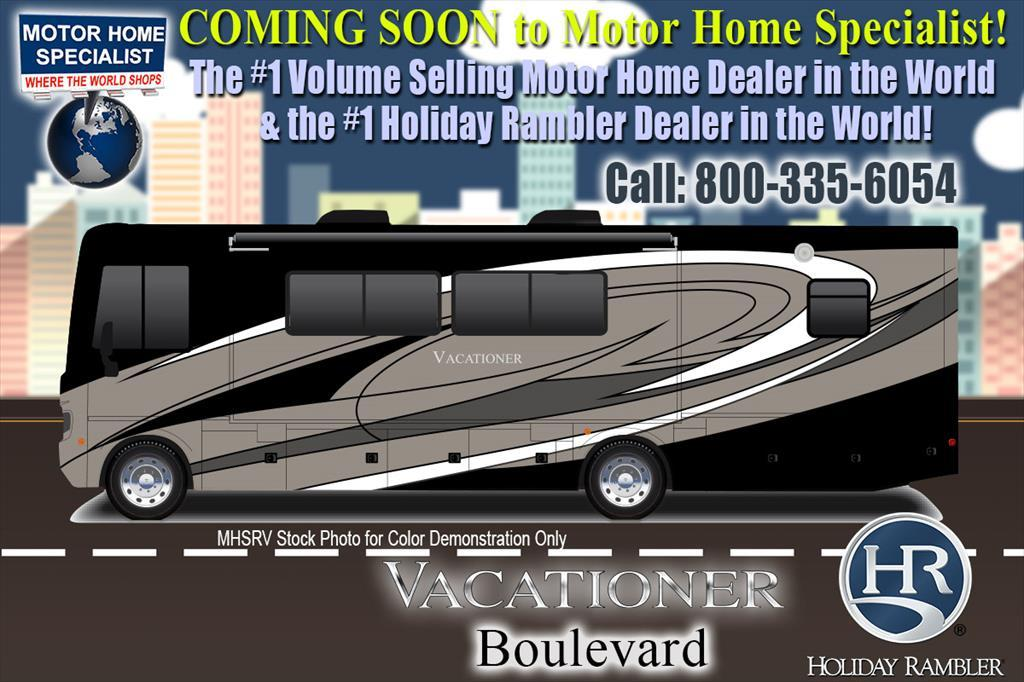 2018 Holiday Rambler Vacationer 35K Bath & 1/2 RV for Sale W/LX Pkg, Sat, W/