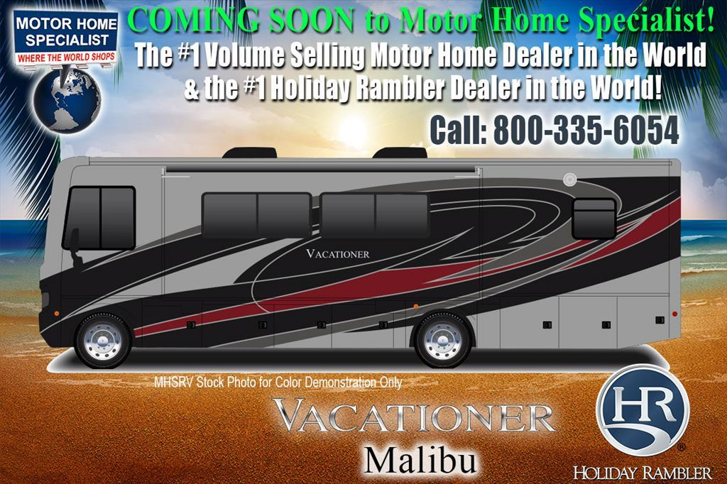 2018 Holiday Rambler Vacationer 35K Bath & 1/2 RV for Sale W/Sat, W/D, LX Pk