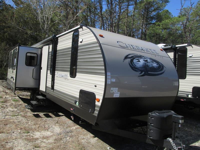 2017 Forest River Cherokee 304R Rear Lounge Island Kitchen Double Slide