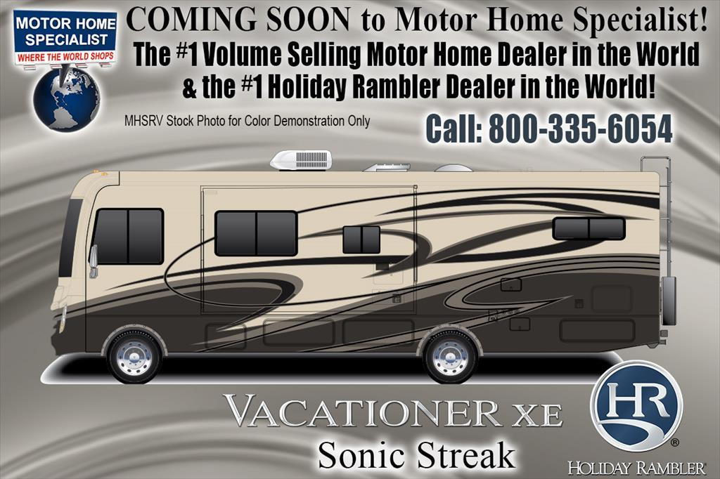 2018 Holiday Rambler Vacationer XE 36F Bunk Model, 2 Full Baths W/ King, W/D