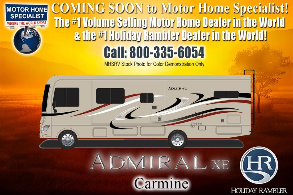 2018 Holiday Rambler Admiral XE 31A RV for Sale W/ Dual A/C, 5.5KW Gen, Auto