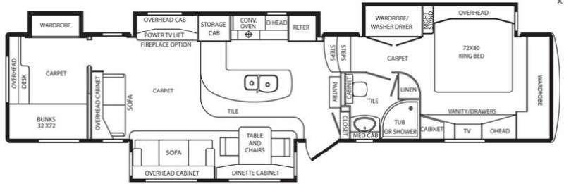 2012 DRV Mobile Suites Atlanta 45' Quad Slide 2 Bedroom, 2