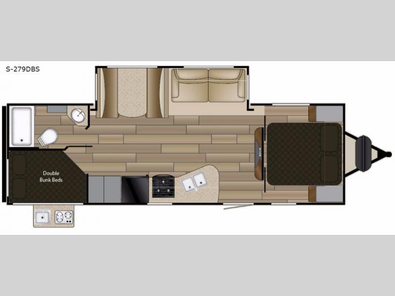2018 Cruiser Shadow Cruiser S-279DBS, 1