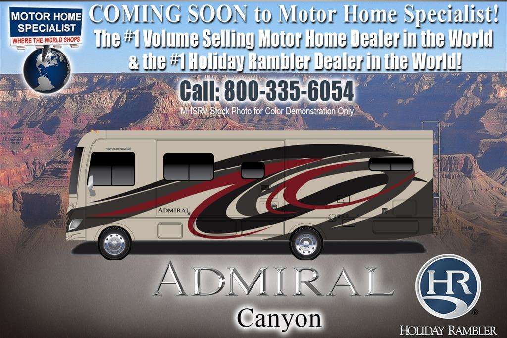 2018 Holiday Rambler Admiral 31B Bunk Model W/2 A/C, Res Fridge, 5.5KW Gen