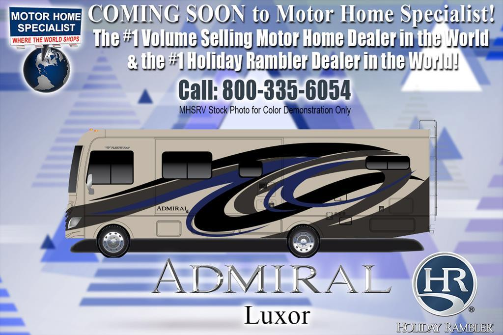 2018 Holiday Rambler Admiral 31B Bunk Model W/2 A/C, 5.5KW Gen, Res Fridge