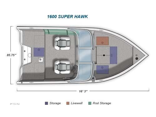 2011 Crestliner Super Hawk 1600