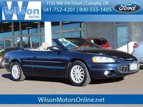 2002 CHRYSLER SEBRING 2 DOOR CONVERTIBLE