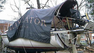 MOLDED FIBER MFG 19' Sail boat and trailer AND 6HP JOHNSON ENGINE SAILBOAT