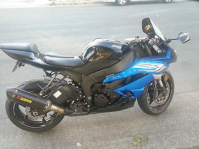 Kawasaki : Ninja 2011 zx 6 r ninja akrapovic slip on exhaust crg levers new michelin pilot tires
