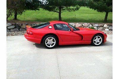 Dodge : Viper GTS 1998 cdodge oupe gts 15200 miles 8 l v 10 manual leather