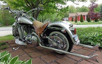 Harley-Davidson : Softail 2003 heritage springer flsts 42 cholos true duals chrome 16 k miles bad a 03