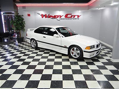 BMW : M3 M3 1995 bmw m 3 e 36 coupe obd 1 rare white over black heated vader seats 100 stock