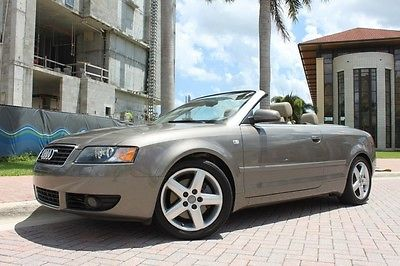 Audi : A4 3.0L Convertible 2005 audi a 4 convertible 3.0 l 37 k miles florida car clean carfax