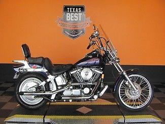 Harley-Davidson : Softail 1999 used cobalt blue pearl harley davidson softail classic fxstc chrome