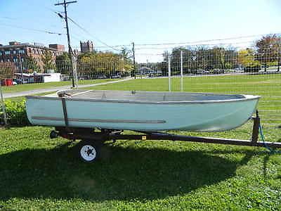 Sears Ted Williams Aluminum Fishing Boat Trailer 12 Ft Semi-V Blue No Leaks