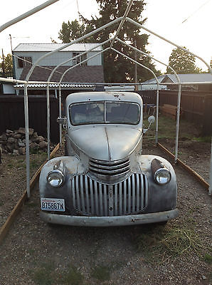 Chevrolet : Other Pickups Grey 1941 chevrolet pickup truck original with extra parts classic car barn find