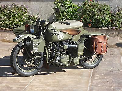 Harley-Davidson : Other 1942 harley davidson wla military with side car