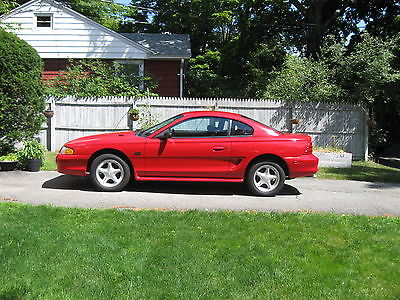 Ford : Mustang GTS Coupe 2-Door 1995 mustang gts red w black interior excellent condition