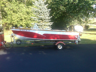 1961 Nehls Wooden boat w / 75hp Johnson Outboard , Balco Trailer , Lohaus Cover