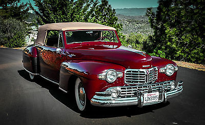 Lincoln : Continental Cabroilet Convertible 1948 lincoln continental convertible very rare