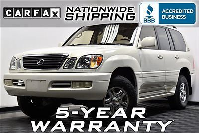 Lexus : LX 4dr SUV Loaded 4x4 Pearl 5 Year Warranty Nationwide Shipping Leather Sunroof LX 470