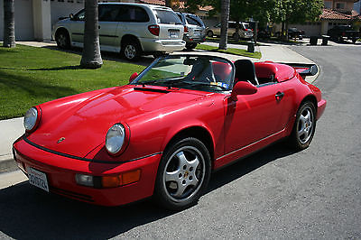 Porsche : 964 2DR Speedster Convertible Lightweight Recaro Seats 1994 porsche 964 speedster red convertible lightweight 24 663 miles immaculate