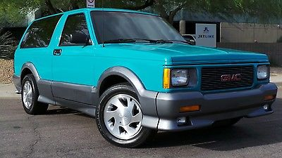 GMC : Typhoon TURBO 1992 gmc typhoon 4.3 l v 6 turbocharged awd lifelong az truck rare bright teal