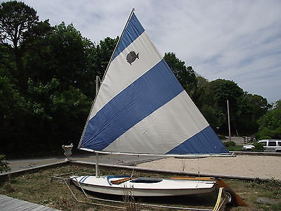 AMF Alcort Sunfish (complete boat)with custom beach dolly,sailboat,daysailor