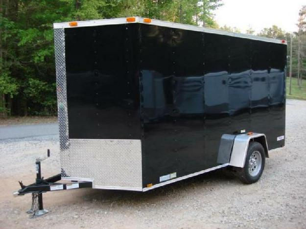 6ft X 12ft Deluxe Enclosed Cargo amp amp Cycle Trailer