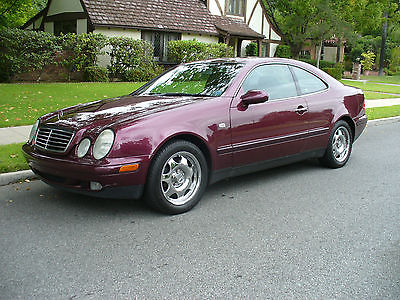 Mercedes-Benz : CLK-Class Excellent Beautiful California Rust Free Mercedes CLK Coupe Rare Special Order  Ruby Red